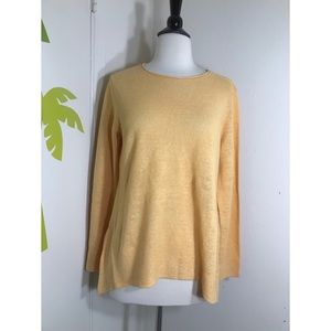 Eileen Fisher Organic Linen Tunic Top Sz Small